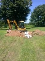 dig up tank instal riser
